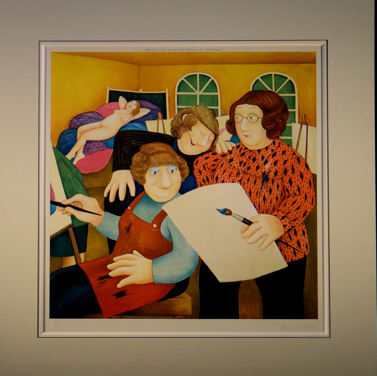 Beryl Cook, signed, limited edition print, Art Class