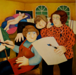 beryl cook, signed limited edition prints, art class