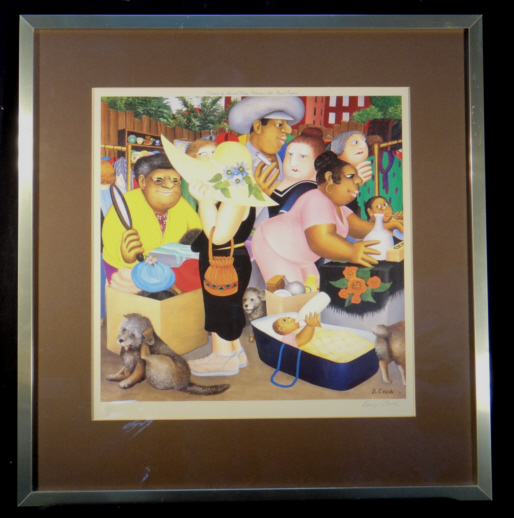 Beryl Cook, signed, limited edition print, Street Market