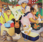beryl cook, signed limited edition prints, street market