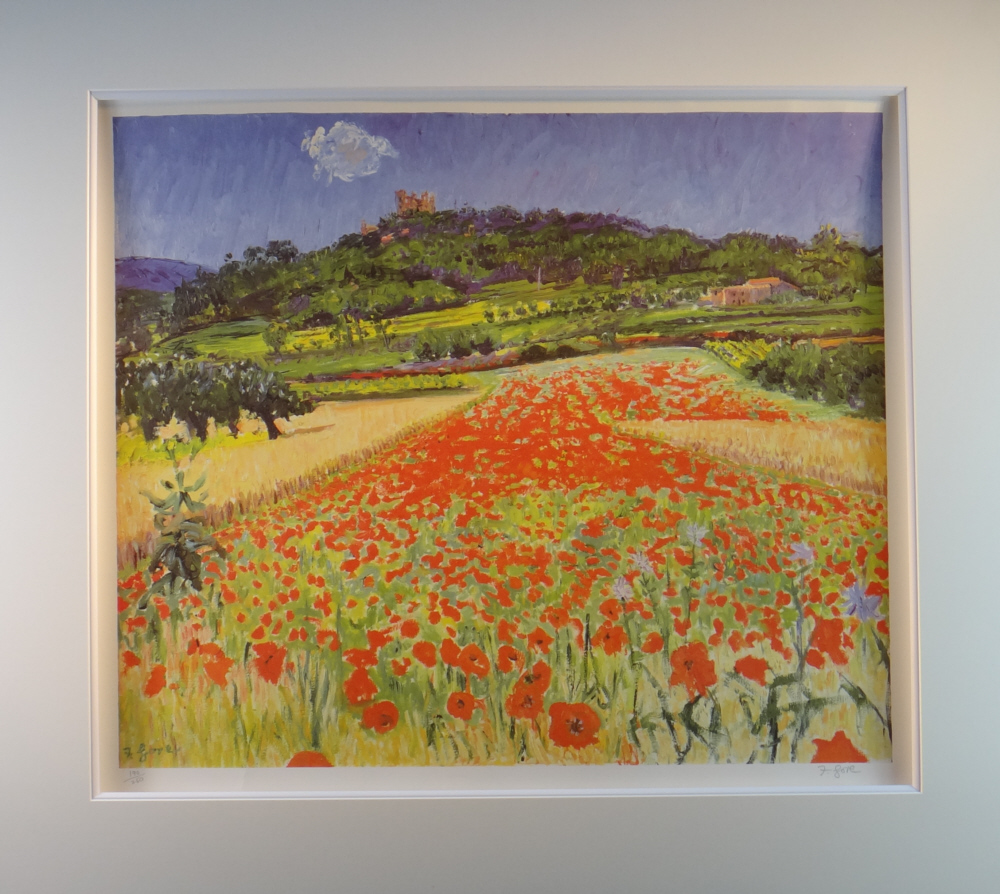 print Gore, poppies, mounted