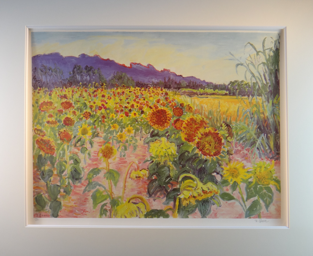 print Gopre, sunflowers, mounted