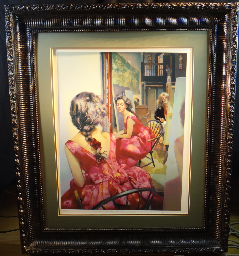 robert lenkiewicz, the painter with Anna, framed