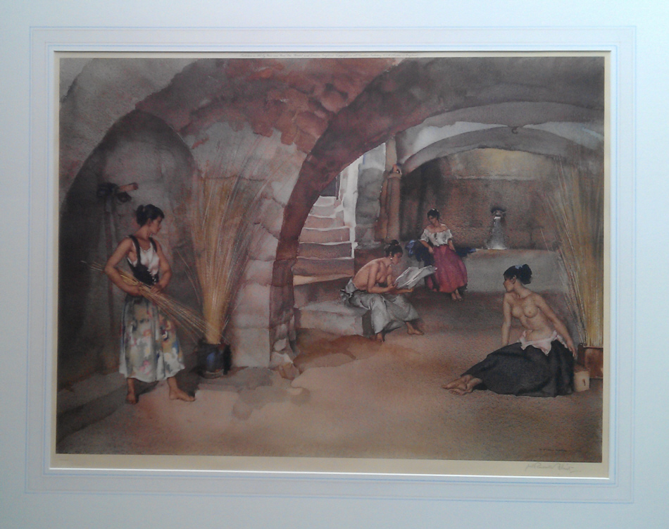 Sir William Russell Flint,  signed limited editions, original paintings