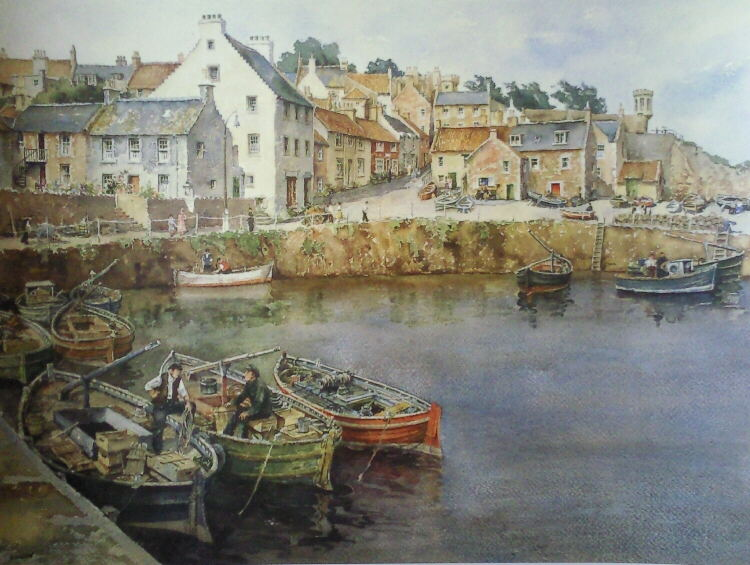 E.R. Sturgeon,signed limited edition, print, crail, fifeshire