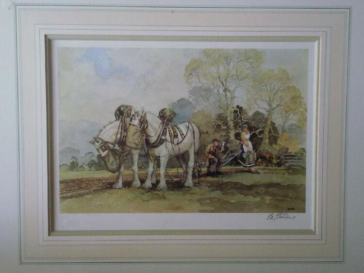 E.R. Sturgeon,signed limited edition, print, ploughman's lunch